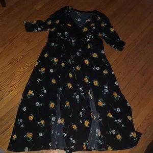 Torrid black floral maxi dress